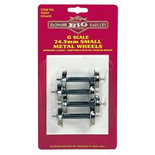 Bachmann Big Hauler 92422 24.5mm Metal Wheel Sets G Gauge