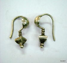 vintage antique ethnic tribal old silver earrings belly dance jewellery