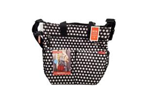 Skip Hop Diaper Bag Black White Polka Dot Duo Signature NEW NWT