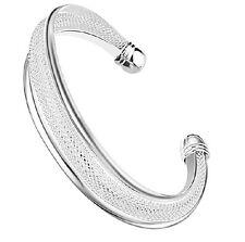 Women's Unisex 925 Sterling Silver Cuff Open Bracelet G1
