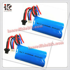 2X Li-ion BATTERY 7.4V 1500MAH FOR GT QS 8019 RC 3CH Helicopter SPARE PARTS