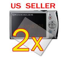2x Canon ELPH 310 HS / IXUS 230 HS Digital Camera LCD Screen Protector Guar