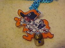 DETROIT TIGERS PENDANT~NECKLACE~Pitching Tiger W/ Cap Charm~Baseball~MLB~New