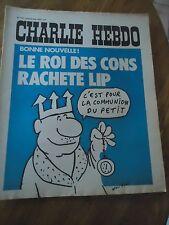CHARLIE HEBDO N°142 ROI CONS LIP MONTRE WOLINSKI CABU 6 aout 1973 ORIGINAL