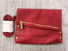Hammitt VIP Red Leather Foldover Crossbody Purse Clutch - 1 Left!