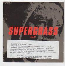 (EZ830) Supergrass, Mary - 1999 DJ CD