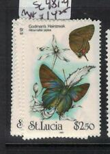 St Lucia Butterfly SC 981-4 MNH (6efw)