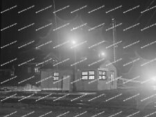 ORIG NEG Maine Central station Danville Junction night shot Original 2 ¼ inc