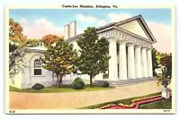 Vintage 1930s Curtis Lee Mansion Arlington Virginia VA Old Linen Postcard D21