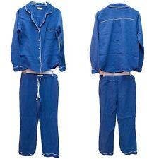 Ugg Australia Pajama Set Blue Stripe Cotton Gauze Flannel Women's Size M
