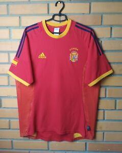 Spain Jesrey 2002 2004 Home LARGE Shirt Adidas Football Soccer Trikot Maglia
