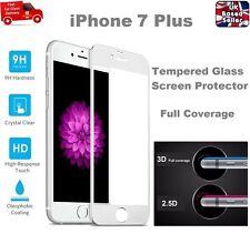 Cobertura completa Burbuja Gratis Protector de Pantalla de Vidrio Templado para iPhone 7+ Plata