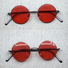 Spring Hinges Vintage small Round Sunglasses Reading Glasses Gunmetal Full Rim