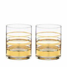 KATE SPADE new york lenox Gold Hampton Street Striped Whiskey Glasses
