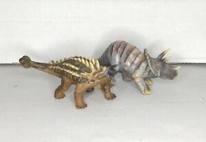Schleich Dinosaurs - Pair Sichania 2002 Triceratops 2002 Retired