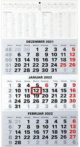 3-Monatskalender 2022 Bürokalender Wandplaner 450x235mm Dreimonatskalender klein