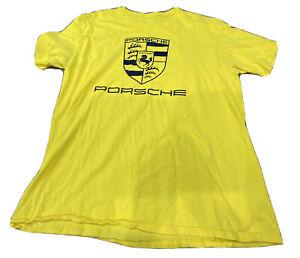 Porsche T-Shirt Yellow Large