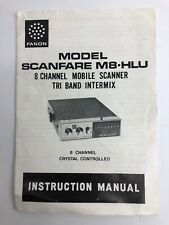 Model Scanfare M8-Hlu Original Operating Manual Only Fanon Scanner