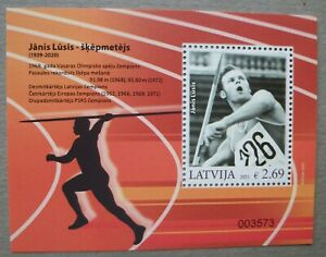 LATVIA. LETTLAND. 2021. Lusis. Olympic Champion- 1968. S/S MNH Sports.