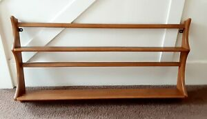 Vintage Ercol Wall Mounted Plate Rack - Blue Label