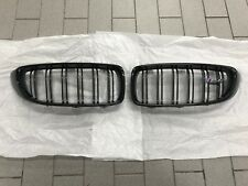 Brand New Genuine BMW M4 F82 F83 Pair Gloss Black M Performance Kidney Grilles