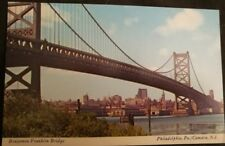 Benjamin Franklin Bridge Postcard Vintage - Philadelphia, Pennsylvania