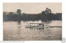 Wisconsin River 1907 Prairie Du Sac WI REAL PHOTO POSTCARD Pleasure Launches