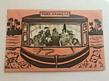 1968s Souvenir Photo Holder From Florida's Silver Springs w/ Photo C