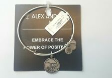 Alex And Ani TREE HUGGER Bangle Bracelet NWT CARD R Silver RETIRED HTF Charm