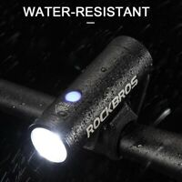 ROCKBROS Waterproof Cycling Bicycle Head Front Light USB Rechargeable LED