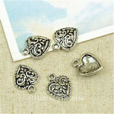 25pc Tibetan Silver heart Charm Beads Pendant accessories Findings PL722