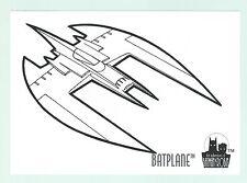 The Adventures Of Batman & Robin Coloring Card C8 The Batplane Skybox 1995 Good