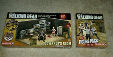 Mcfarlane The Walking Dead Construction set lot Governors Room & Figure pack 1