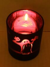 YANKEE CANDLE HALLOWEEN GHOST FLICKER TEA LIGHT CANDLE HOLDER NIB RETIRED