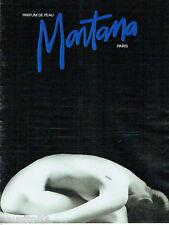 PUBLICITE ADVERTISING 115  1988  le parfum de peau de MONTANA