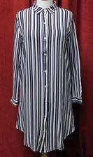 Ladies Multi Colour Stripe Shirt Dress Womens Long Sleeved Blouse Top