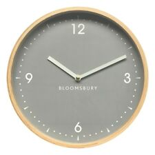 Vitus Wall Clock Natural Wood Light Yellow Finish Grey Dial White Colour Hands