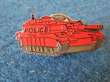 Enamel Badge - Red Police Tank
