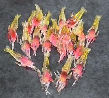 Soft plastic prawns X20, 4.8cm. Soft Lure, Shrimp, Yabbie, Nipper, Bream