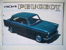 Peugeot 404 Berline GERMANY 1965 Prospekt brochure catalogue folleto