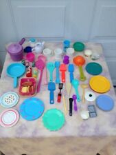 Vintage Fisher Price Play School Kitchen Utensils Plates And Cups