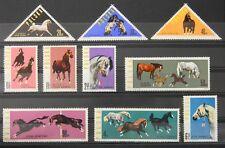 - Polen Poland 1963 Mi. Nr. 1447-1456 ** postfrisch MNH Pferde horses