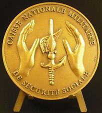 Medaille Caisse Nationale Militaire de sécurité sociale 189 g 74 mm  medal