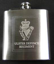 UDR Ulster Defence Regiment version 6oz engraved Hip Flask