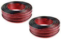 2 Rolls 16 Gauge 100 Feet Red Black Speaker Wire 2 Conductor Zip Cord Audiopipe