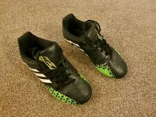 Adidas Football Boots, Moulded Studs, Size 2, Black & Green