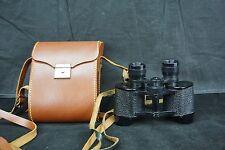 Antique TOWER Binoculars 8x25 Black Vintage w/Strap~Made in France W/Orig. Case