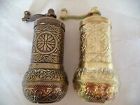2 x Handmade Acar Turkish Coffee, Pepper, Salt Grinder  Antique Ottoman ISO 9001
