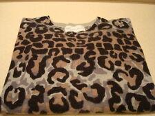 10C Derek Lam Multi-Color Leopard Print Wool Cashmere Sweater Sz. L  NWOT $595