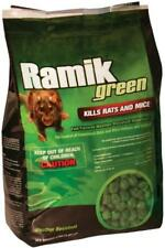 Ramik Green Poison  4 Lb (Mini Chunk) Fish flavored Rat / Mouse / Mice  bait